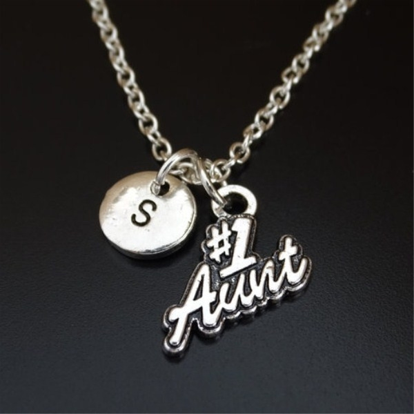 numberoneaunt, Jewelry, Gifts, initial necklace