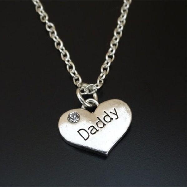 daddynecklace, Jewelry, initial necklace, Charm