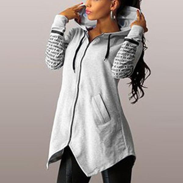 Spring Fashion, Casual Hoodie, Sleeve, slim long