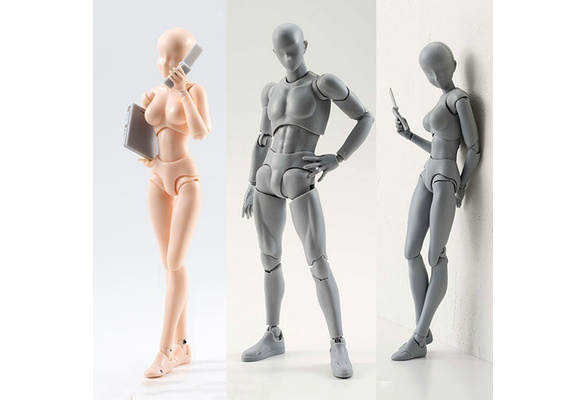 US 2pcs Figma Archetype Sketch Figure Puppet Youth Artist Movable Limbs Doll