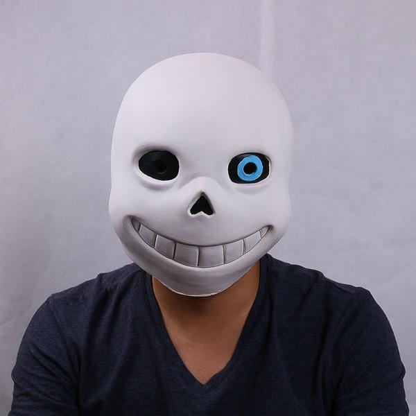 Game Undertale Mask Cos Sans Mask Halloweem Fancy Ball Sans Latex Helmet Props Wish