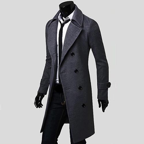 woolen, Coat, Plain class, Sleeve