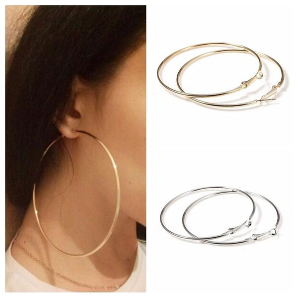 Hoop Earring, Jewelry, womendanglehoopearring, punk