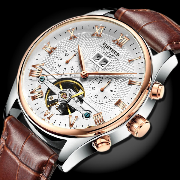 Mechanical Watches, Waterproof Watch, Sports & Outdoors, leather strap