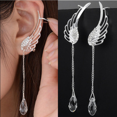 Sterling, Crystal, Jewelry, Angel