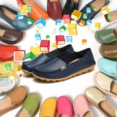 Flats & Oxfords, Plus Size, Womens Shoes, genuine leather