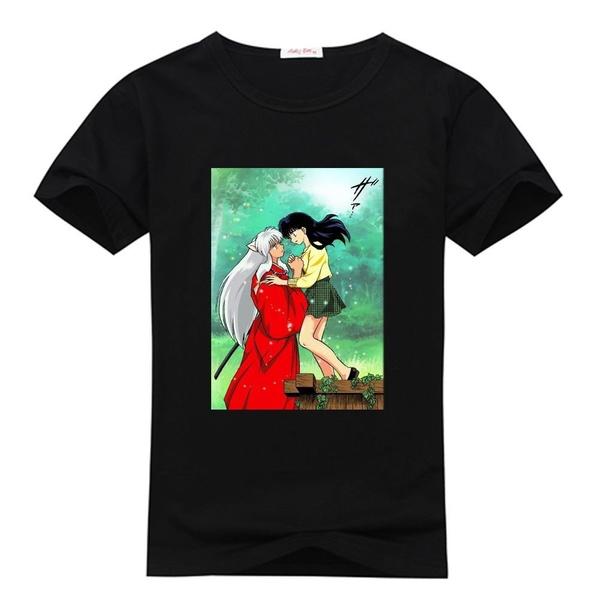 Tops & T-Shirts, inuyasha, sporttshirt, summer t-shirts