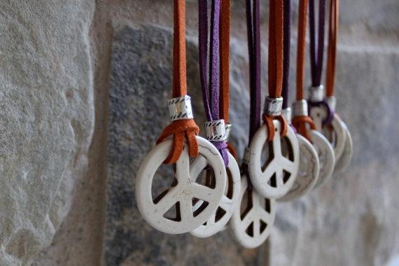 festivalnecklace, peacesignnecklace, 60speacenecklace, Necklace
