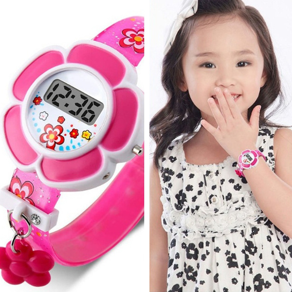 Flowers, led, fashion watches, Silicone