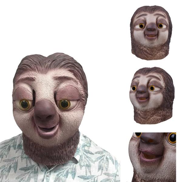 sloth, Head, Toy, Cosplay