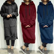 Fleece, hooded, Winter, Long Sleeve