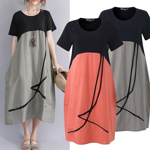 Round neck, Fashion, Shirt, Patchwork