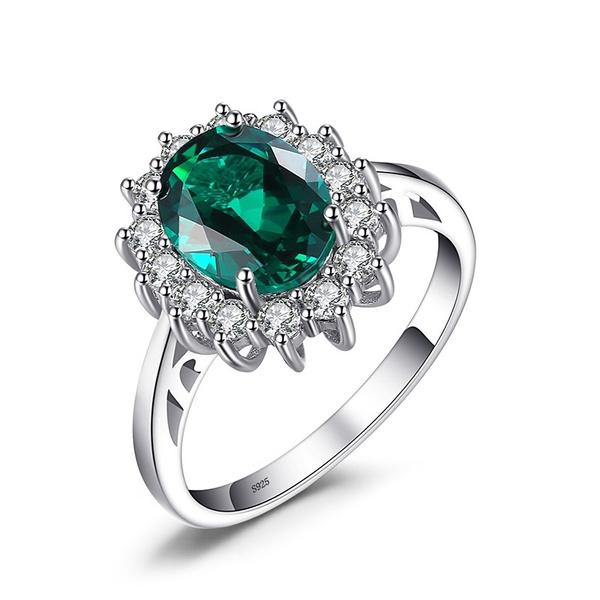 Couple Rings, Sterling, Princess, wedding ring