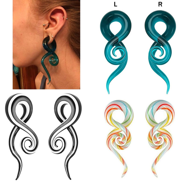 spiralearring, earexpander, Earring, Glass