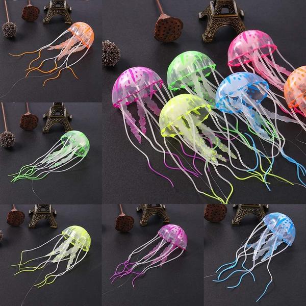 led, fishtankjellyfish, artificialjellyfish, aquariumjellyfish