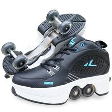 Outdoor, rollerskate, doublerow, skidding