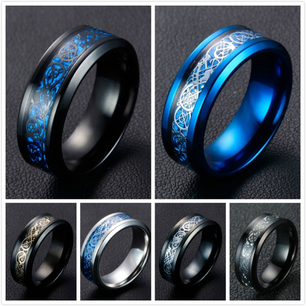 Fashion, gold, Stainless Steel, domineeringring