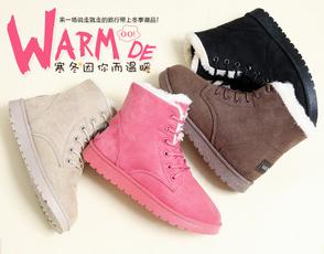 ankle boots, cottonpaddedshoe, fur, Womens Shoes