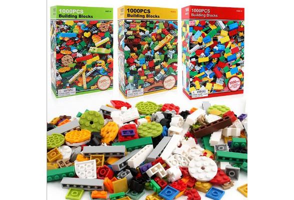 1000 Pieces DIY Building Blocks Bulk Sets Creative Bricks Assembly for Children