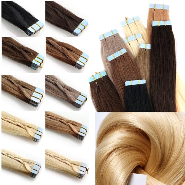 Hair Extensions, tapeinhair, remyhumanhairextension, skinwefthairextensionsblonde