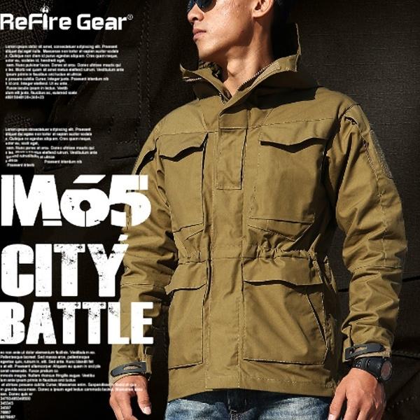 Military M65 Field Jacket Mens US Army Coats Combat Windbreaker Tactical Hooded