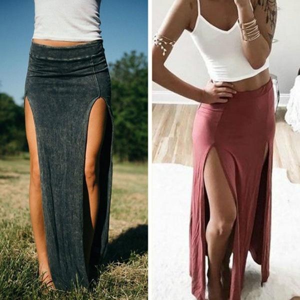 doubleslitskirt, long skirt, pencil skirt, pencil
