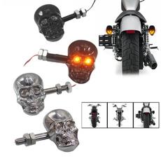 Motorcycle Cufflinks, signallight, skull, lights