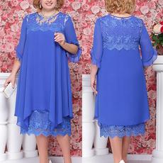 Plus Size, Lace, chiffon, women dresses