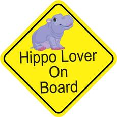 hippo, Car Sticker, Cars, Stickers