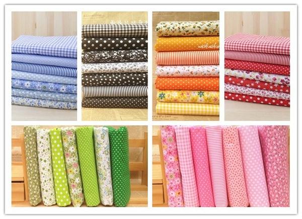 fabricandsewingsupplie, Cotton fabric, Quilting, diyhandmadepatchworkfabric