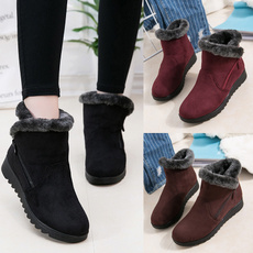 ankle boots, fur, Winter, Waterproof