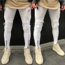men's jeans, trousers, skinny pants, holedenimjean
