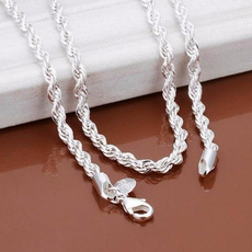 Sterling, Charm, Chain, Chain Necklace