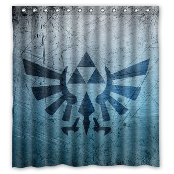 Custom Waterproof Polyester Fabric Bathroom Triforce Legend Of Zelda Shower Curtain With 12 Hooks 60 W X 72 H Wish