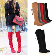 kneeboot, Suede, Leather Boots, thigh