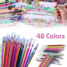 pencil, Glitter, secretgarden, colorfulpainting