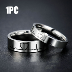 Couple Rings, Heart, wedding ring, Silver hearts