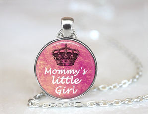 glassartjewelry, daughter, Princess, giftglassnecklace