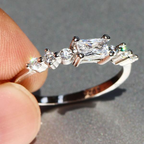 Beautiful, DIAMOND, 925 sterling silver, 925 silver rings