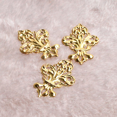 leaves, Flowers, Jewelry, gold