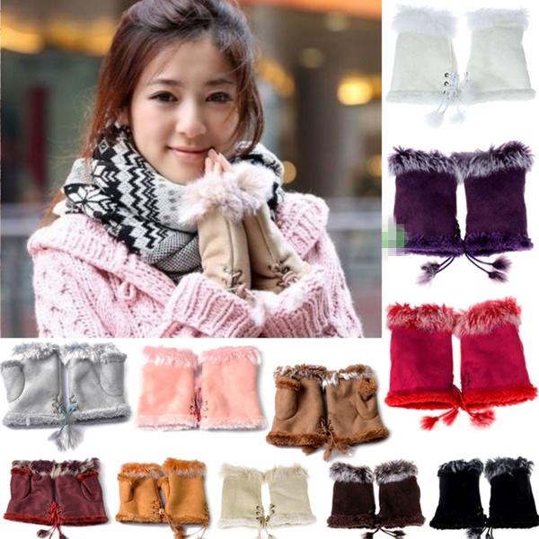 fingerlessglove, warmglove, fur, Mittens