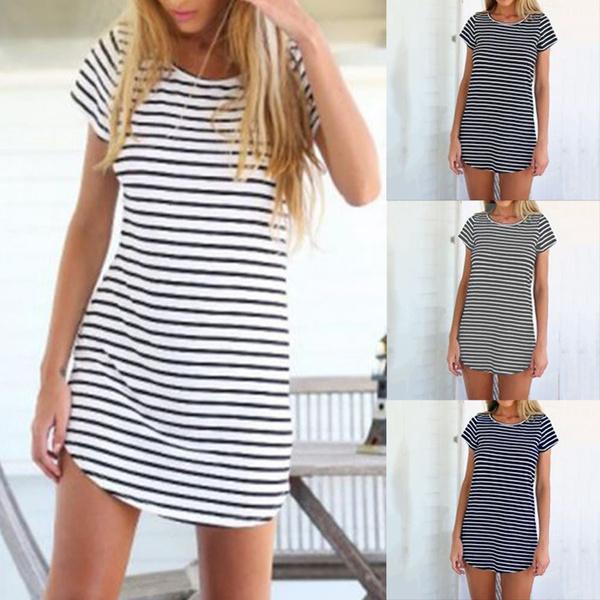 Summer, Plus Size, short dress, Sleeve