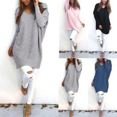 blouse, Fashion, sweatersdresse, loosesweaterdres