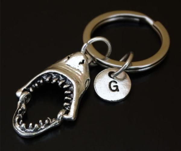 handmadekeychain, Shark, Key Chain, Jewelry