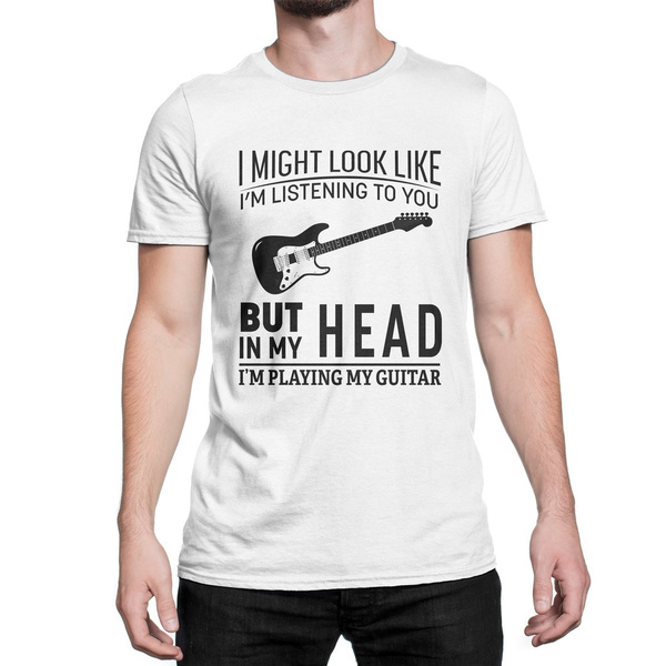 I/'m Playing My Guitar Tshirt Music And Art T-Shirt Funny Idea Gift Birtday cute