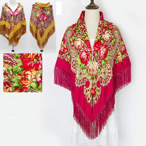 Scarves, Large Size, tasselscarf, Winter