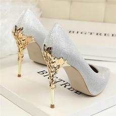 ladyshoe, Woman, gold, Womens Shoes