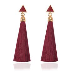 Tassels, boho, Jewelry, Stud Earring