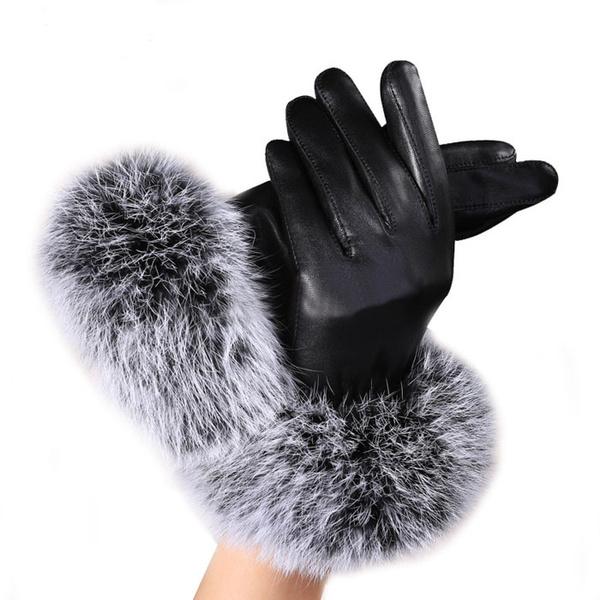 warmglove, fur, Mittens, leather
