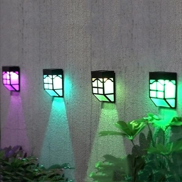 Led Solar Lights Outdoor Fence Lights Garden Waterproof Home Landscape Lights Wish